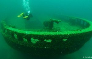 """The Grecian"" shipwreck, located in Thunder Bay, Alpena 