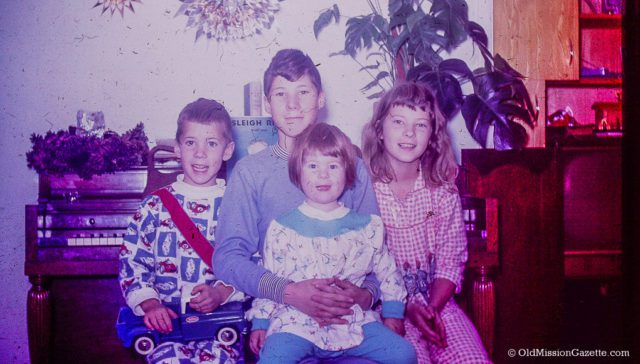 Christmas with the Johnson Kids 1960s, Old Mission Peninsula | Mary Johnson Photo