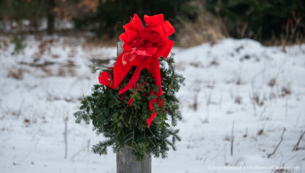 Russ and Deb Larimer's Christmas Wreath on the Old Mission Peninsula