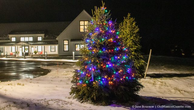 Peninsula Community Library Christmas Tree on the Old Mission Peninsula