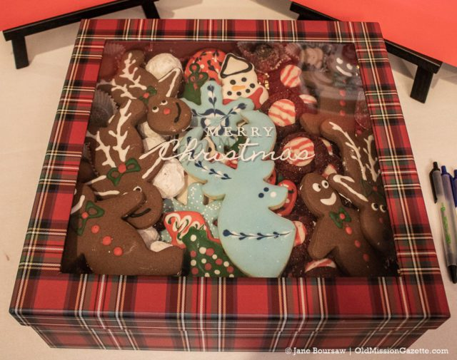 A sample of Janis Haines' beautiful cookies and truffles to be raffled off at the Old Mission Women's Club 2019 Cookie Sale | Jane Boursaw Photo