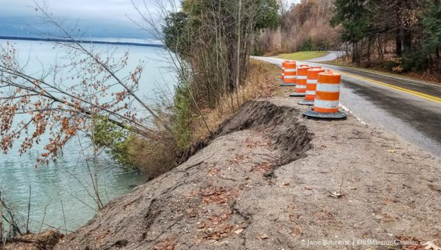 Bluff Road Closed Due to Erosion Issues on the Old Mission Peninsula
