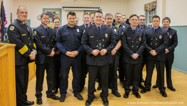 Jan. 14, 2020: Firefighter of the Year Award Recipient Kyle Sarber with the Peninsula Fire Department | Jane Boursaw Photo