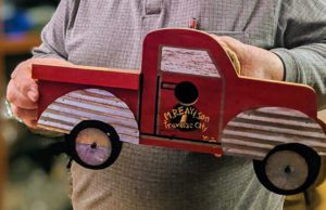 Marty Reay gets a new truck birdhouse for Christmas 2019
