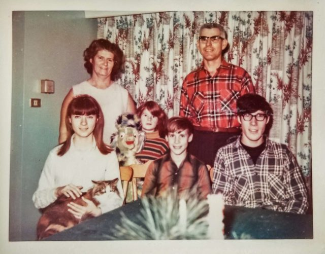 Walter and Mary Johnson Family in Old Mission, Michigan, 1960s