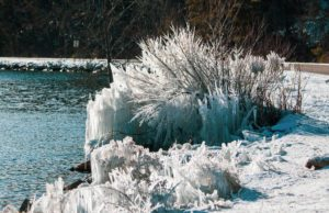Bluff Road Ice Sculptures on the Old Mission Peninsula