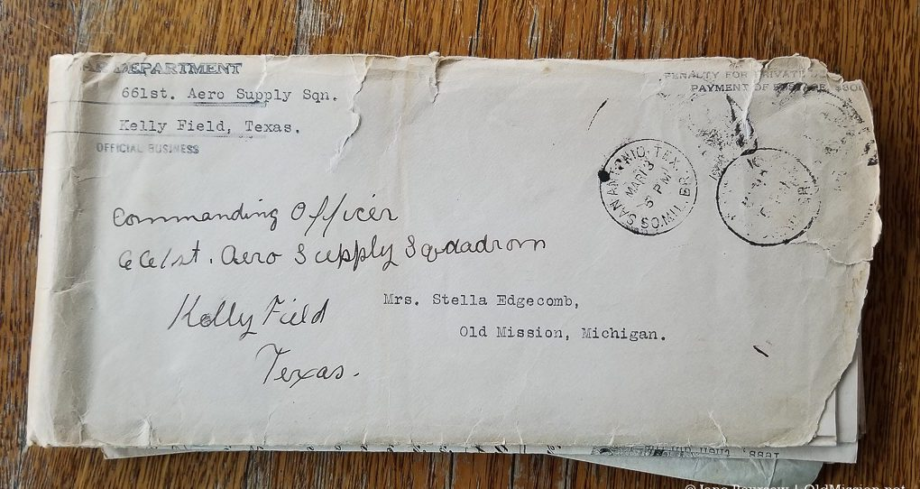 Letter from Army to Stella Edgecomb about Frank Edgecomb's death in WWI | Jane Boursaw Photo