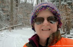 Jane Boursaw on the Trail at Old Mission State Park on the Old Mission Peninsula