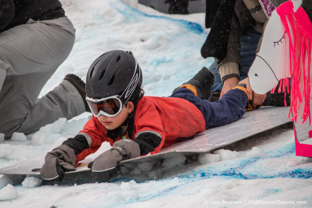 Old Mission Peninsula School Cardboard Sled Race 2020