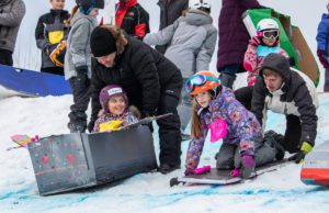 Old Mission Peninsula School Cardboard Sled Race 2020