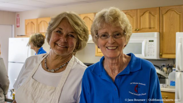 Pam Fouch and Helen Mumford at OMPUMC