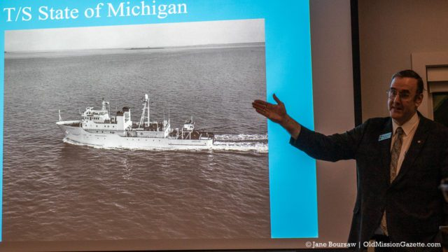 "Feb. 6, 2020: Rear Admiral Jerry Achenbach presents ""The History of the Great Lakes Maritime Academy"" at the OMP Historical Society Meeting 