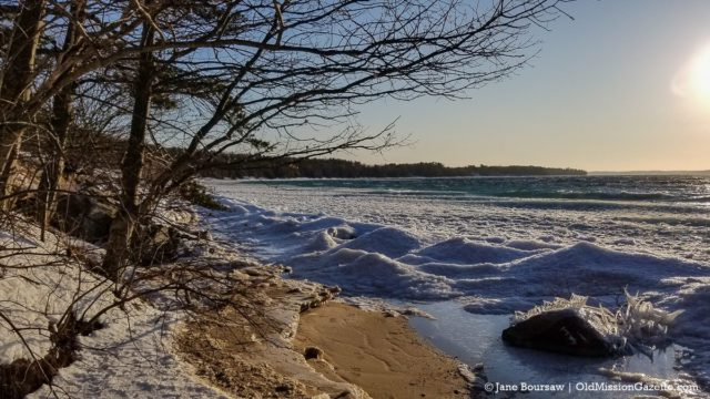 West Bay Ice on the Old Mission Peninsula | Jane Boursaw Photo