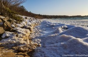 West Bay Ice on the Old Mission Peninsula | Jane Boursaw Photo, COVID-19o