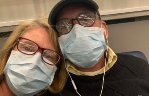 Bob and Vicki Shurly at LAX in Los Angeles, waiting for a flight to Chicago | Shurly Photo