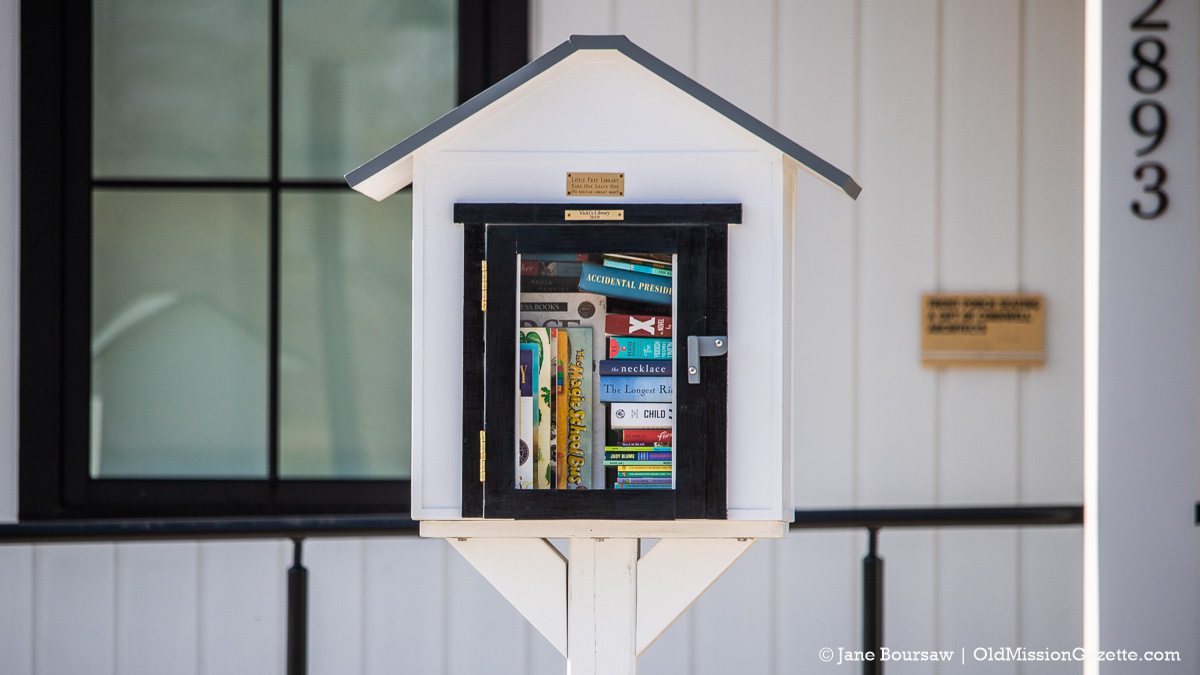 Little Free Library at Peninsula Community Library on the Old Mission Peninsula | Jane Boursaw Photo
