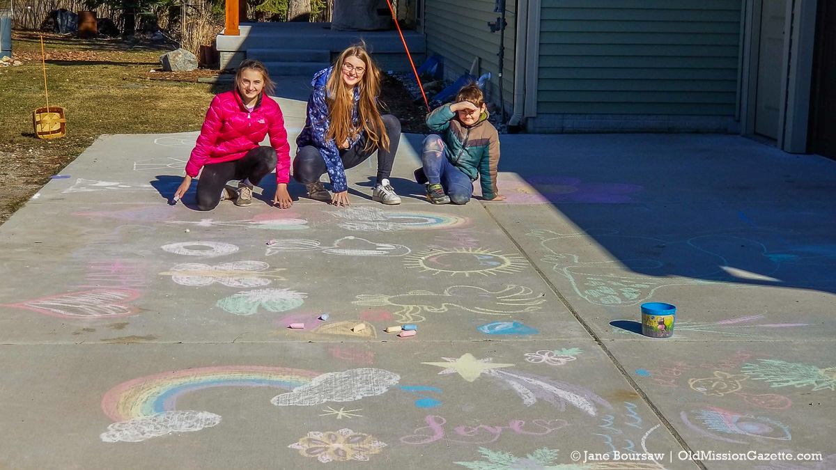 Chalk Art by the Mead Kids | Jane Boursaw Photo