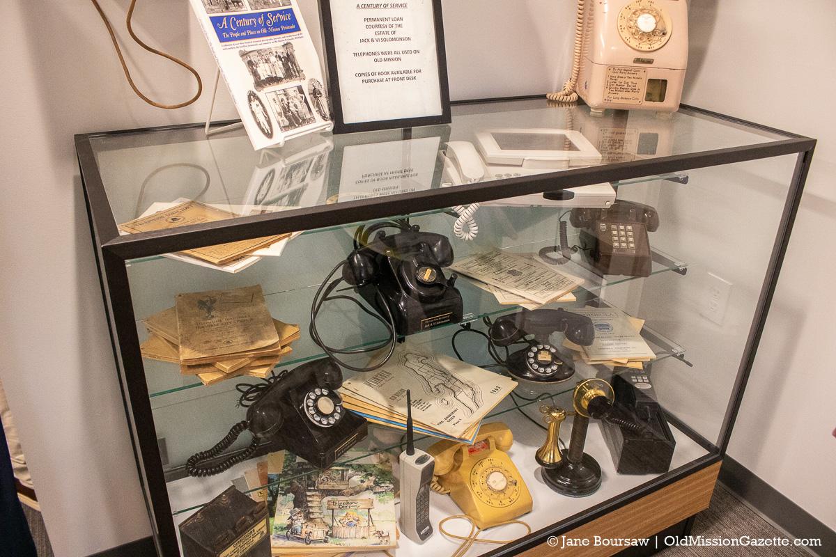 Peninsula Telephone Company Collection at Peninsula Community Library on the Old Mission Peninsula | Jane Boursaw Photo