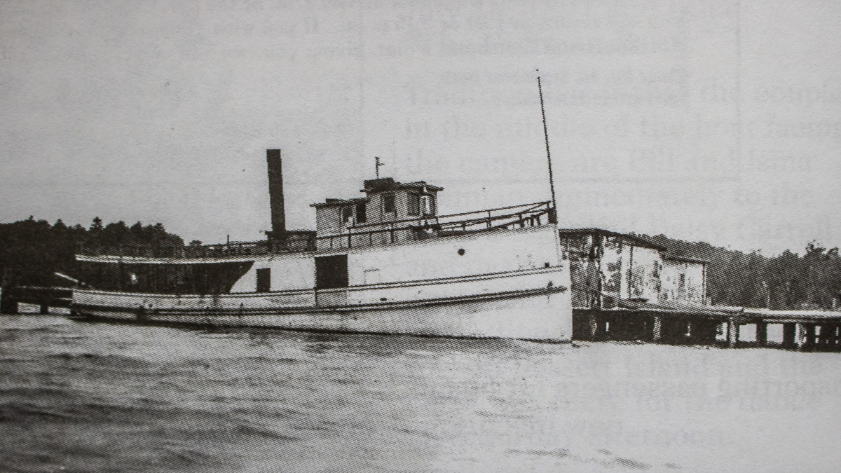 Bowers Harbor History: The Fanny Rose at the Bowers Harbor Dock, circa 1920 | A Century of Service Photo