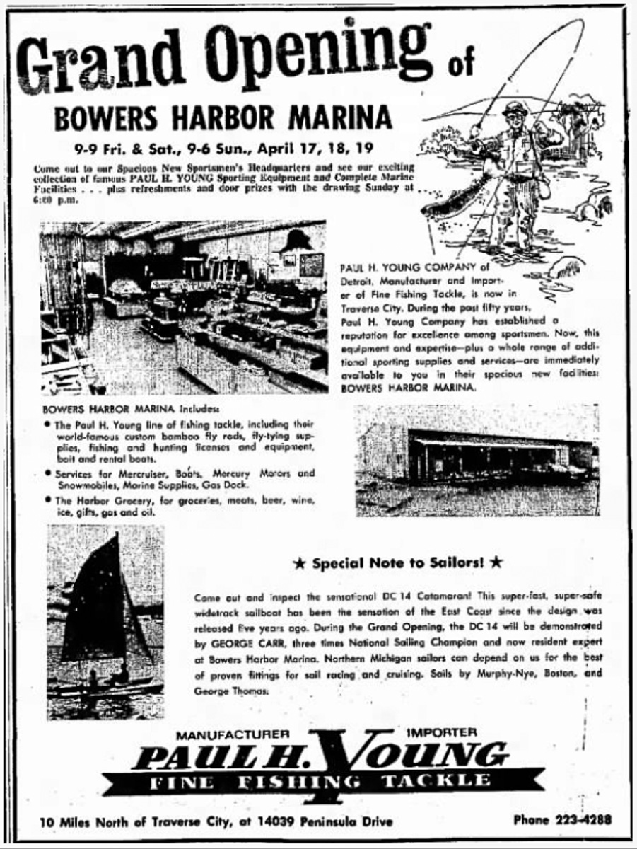 Old Mission History: Grand Opening of Bowers Harbor Marina, April 1970 | Traverse City Record-Eagle via Newspaper.com