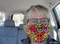 Jane's Peace Mask During COVID-19 Pandemic | Jane Boursaw Photo