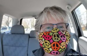 Jane's Peace Mask During COVID-19 Pandemic   Jane Boursaw Photo