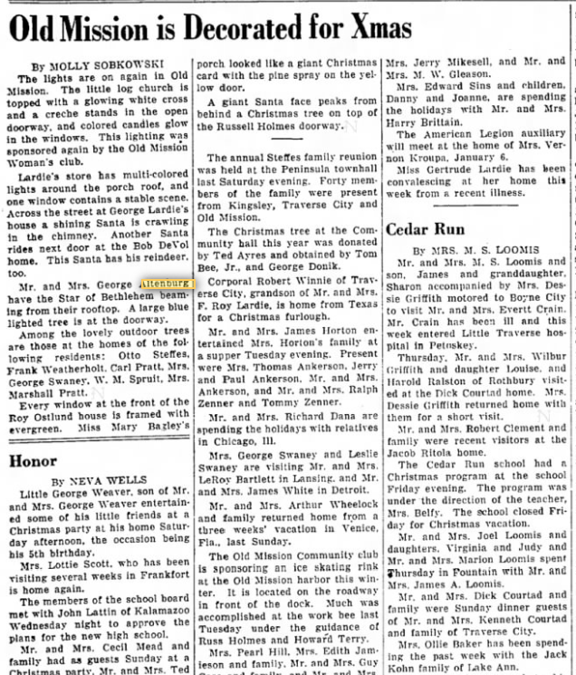 Old Mission History: Traverse City Record-Eagle