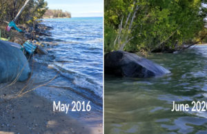 East Bay Shoreline and High Water on the Old Mission Peninsula | Jane Boursaw Photo