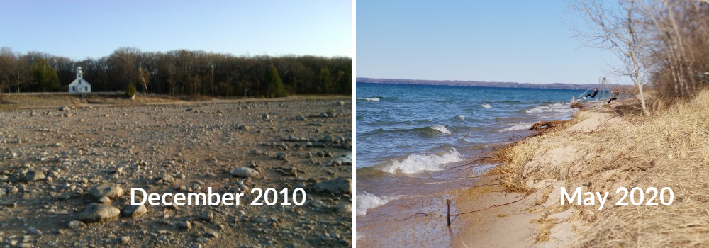 West Bay Shoreline and High Water on the Old Mission Peninsula | Jane Boursaw Photo