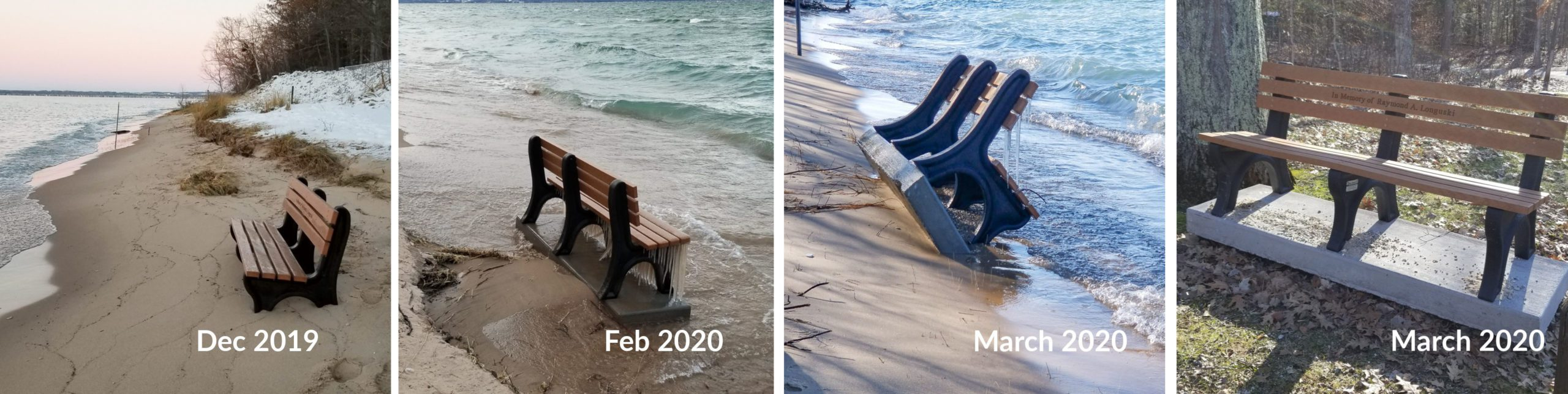 Evolution of a Bench in front of Mission Point Lighthouse | Jane Boursaw Photo