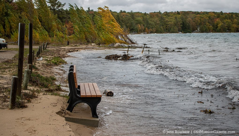 Don Sargent's Memorial Bench at Haserot Beach, October 2019 | Jane Boursaw Photo