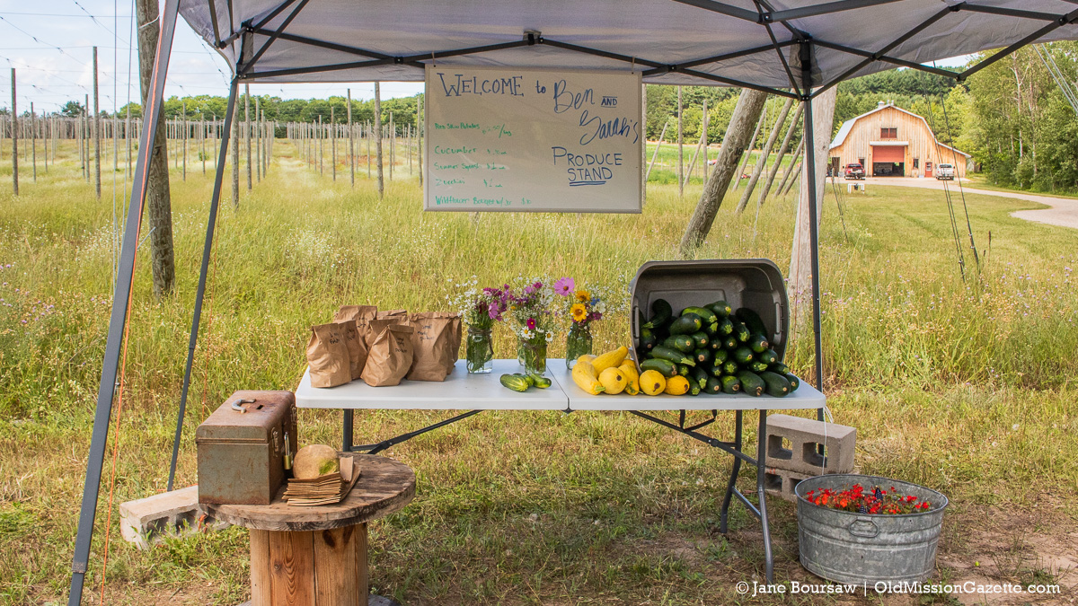 Ben and Sarah's Produce Stand on Swaney Road on the Old Mission Peninsula | Jane Boursaw Photo