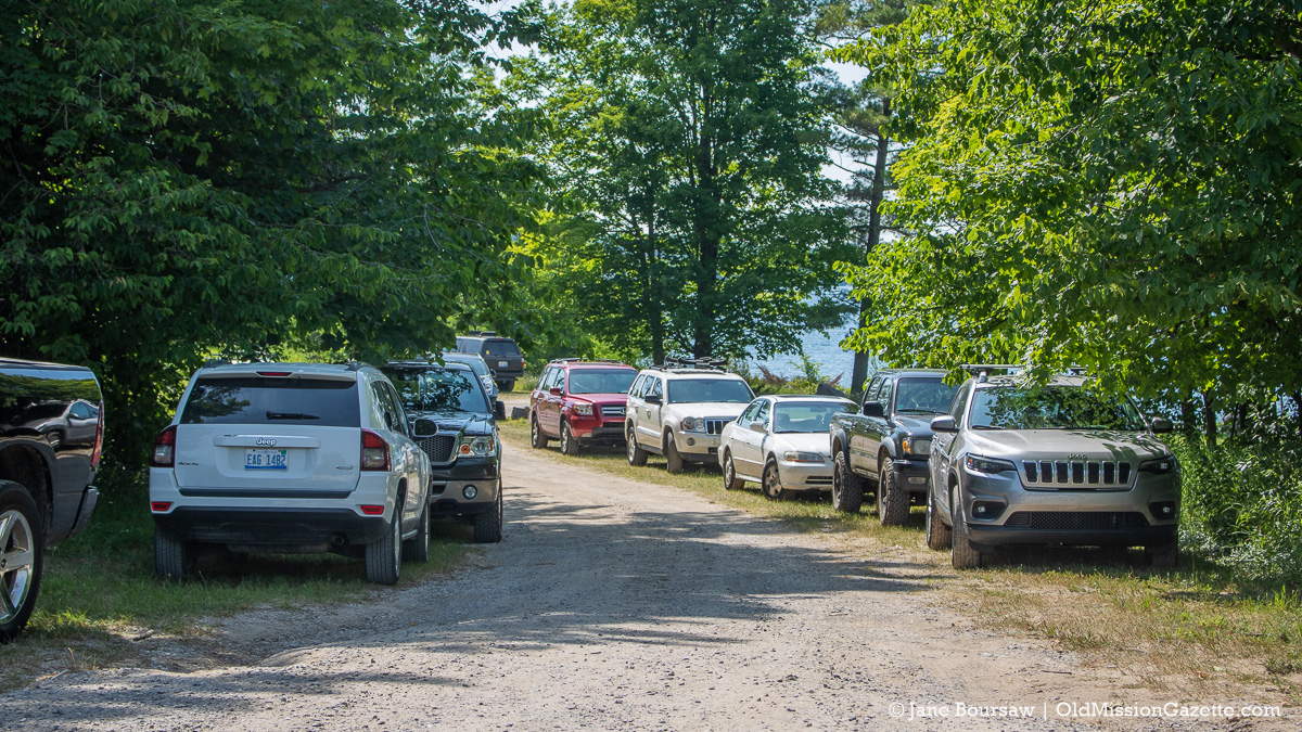 Bowers Harbor Boat Launch on July 4 2020 Weekend | Jane Boursaw Photo, Old Mission Peninsula