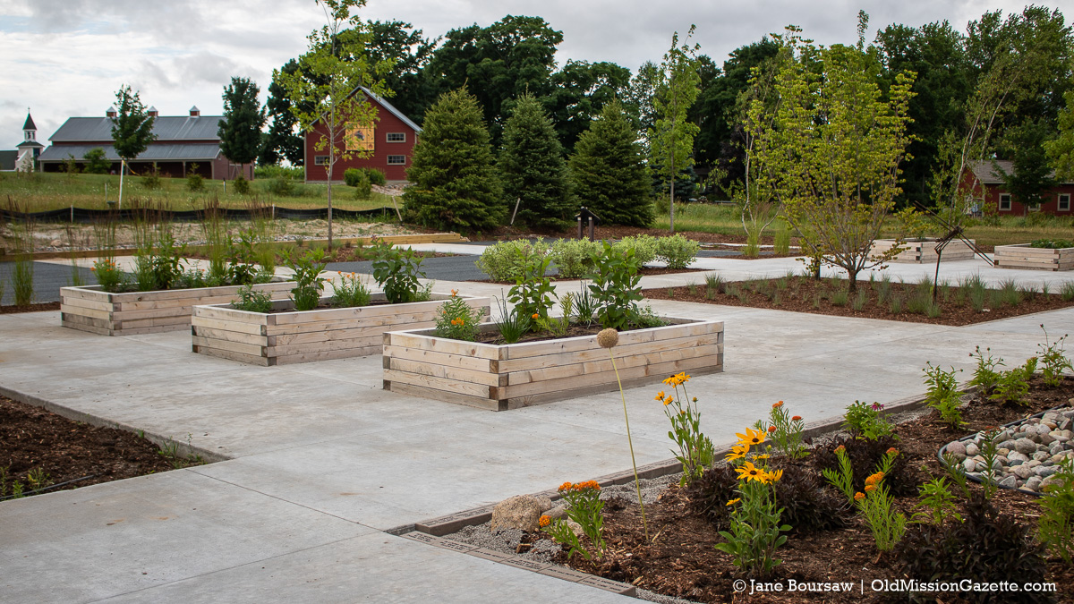 Mack and Lorraine Beers Children's Garden at Peninsula Community Library on the Old Mission Peninsula | Jane Boursaw Photo