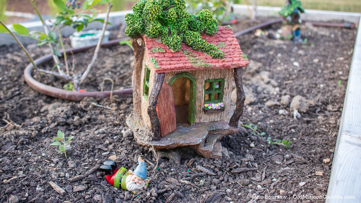 Fairy Garden funded by Gladys Maguire at the Mack and Lorraine Beers Children's Garden at Peninsula Community Library on the Old Mission Peninsula | Jane Boursaw Photo