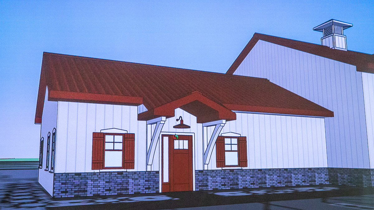 Rendering of Fire Station 3, Peninsula Township Fire Department on the Old Mission Peninsula | Jane Boursaw Photo