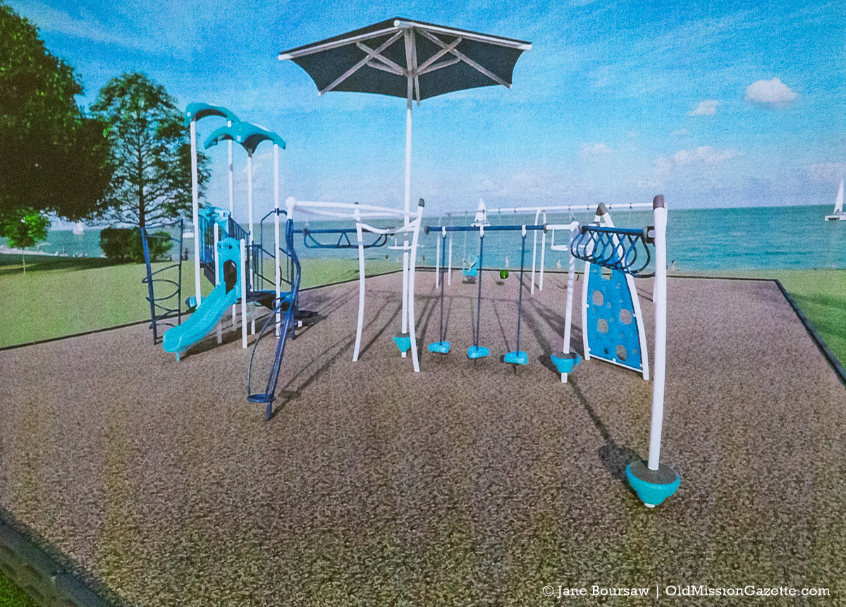 Rendering of New Playground Equipment at Haserot Beach on the Old Mission Peninsula | Jane Boursaw Photo