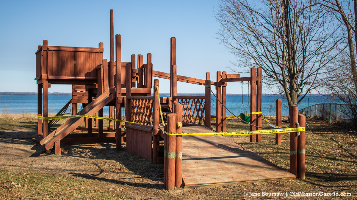 Old Playground Equipment at Haserot Beach on the Old Mission Peninsula | Jane Boursaw Photo