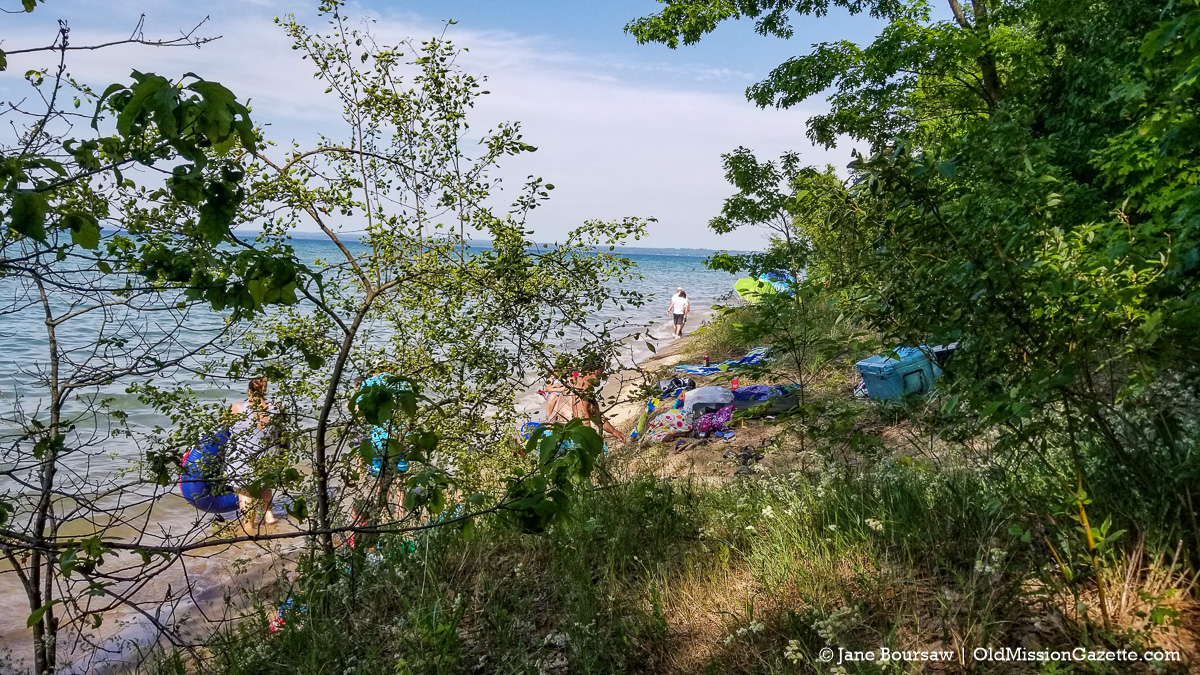 Mission Point Lighthouse Beach on July 4 2020 Weekend | Jane Boursaw Photo