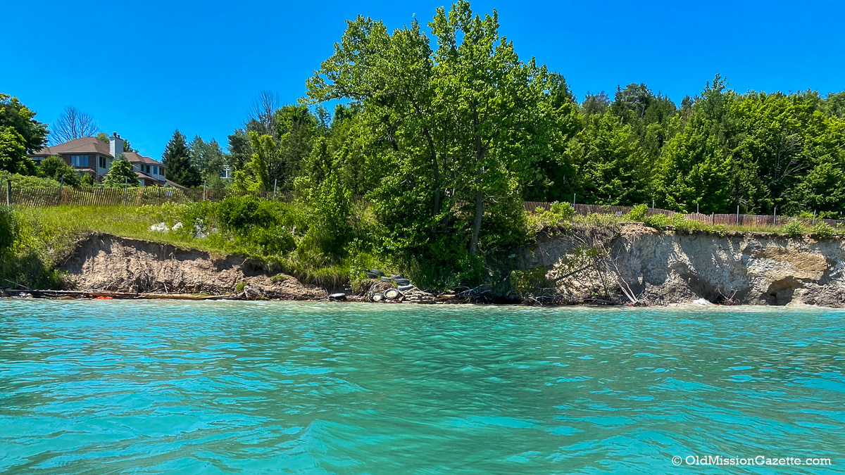 Bluff Road Erosion on the Old Mission Peninsula | Susan Shooltz Photo