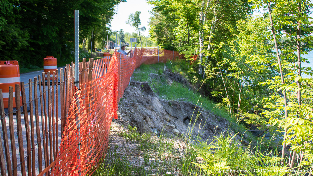 Bluff Road Erosion on the Old Mission Peninsula | Jane Boursaw Photo