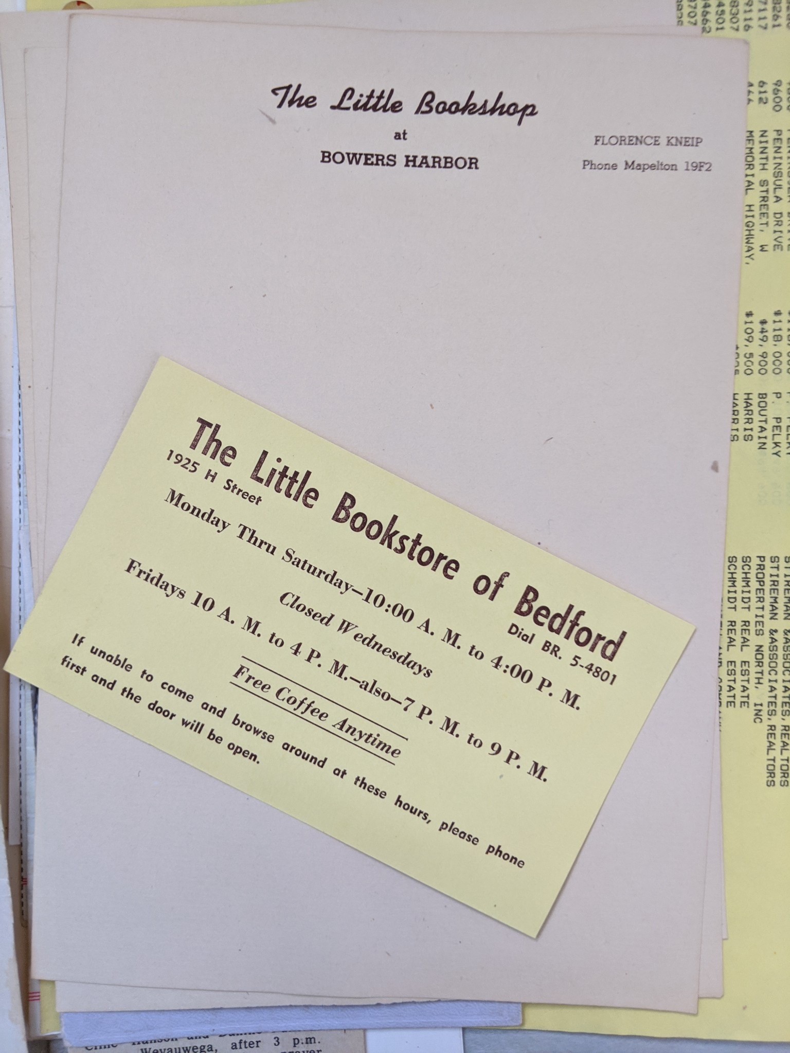 The Little Bookshop of Bowers Harbor Letterhead | Source: Terry Hooper of Hooper's Farm Gardens on the Old Mission Peninsula