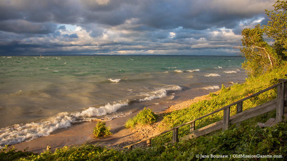 Sunset at Mission Point Lighthouse Beach on the Old Mission Peninsula   Jane Boursaw Photo