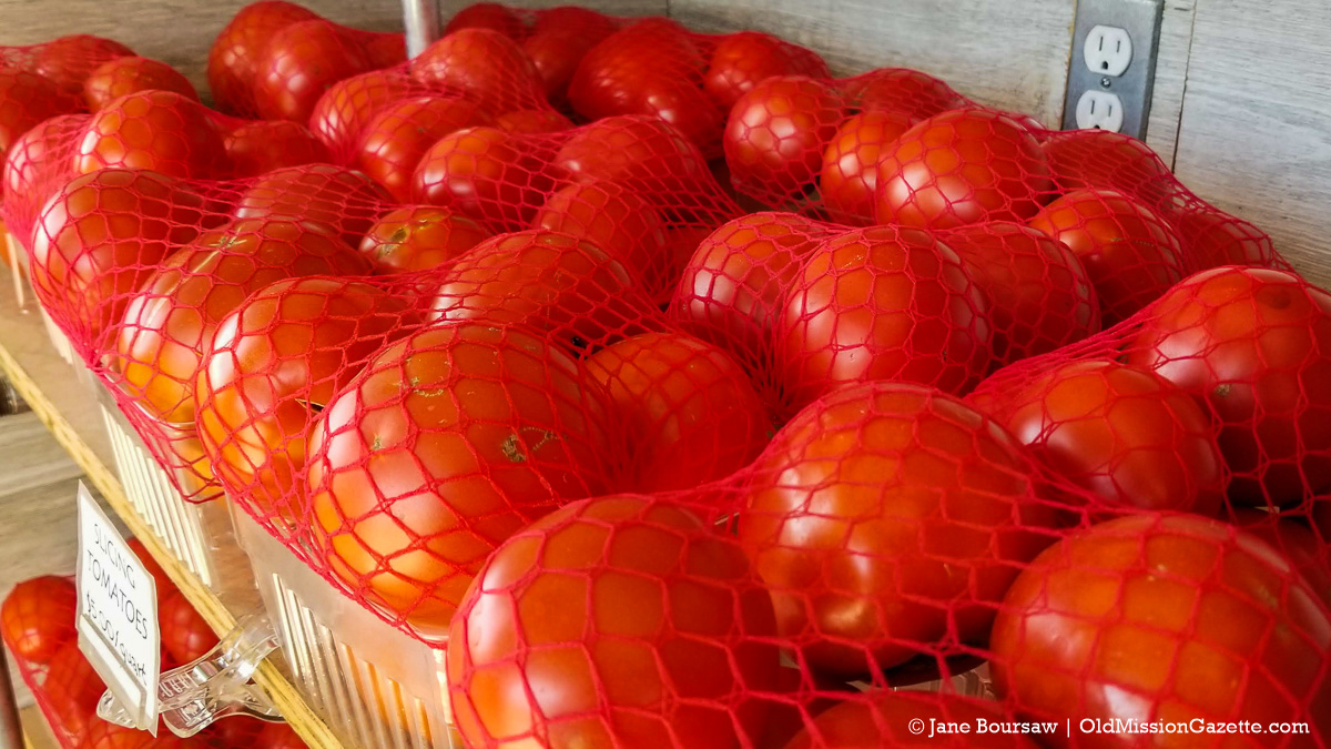 Tomatoes from Local Yokels on the Old Mission Peninsula | Jane Boursaw Photo