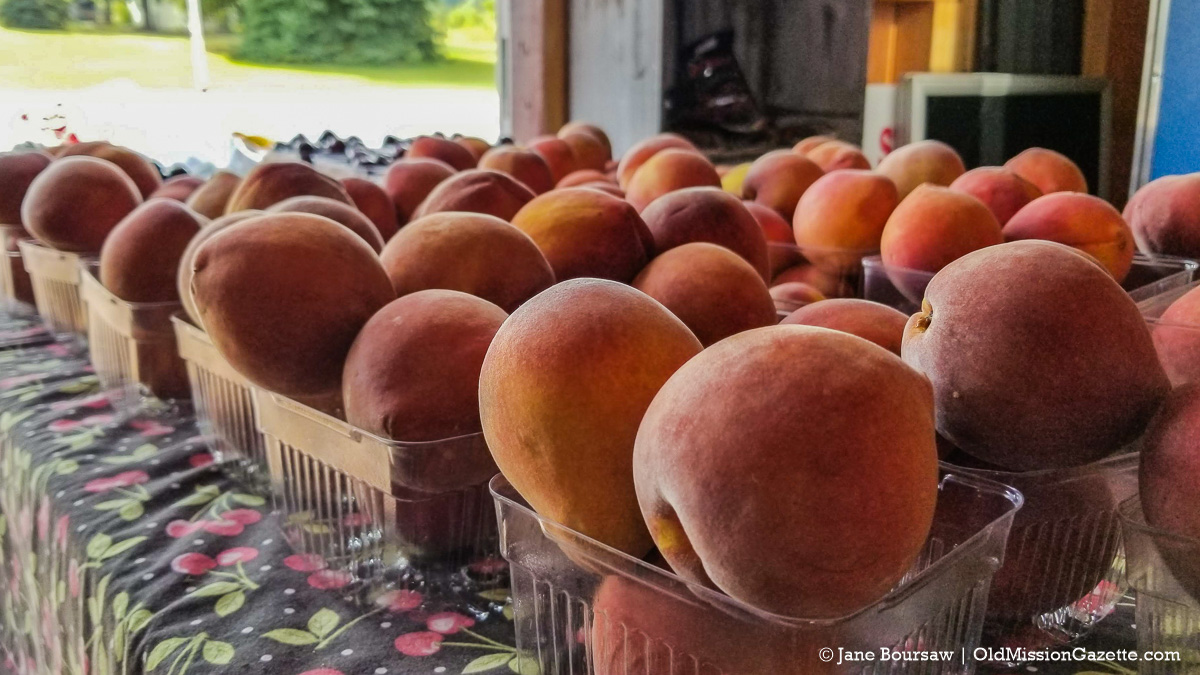 Peaches from Tabone Orchards on the Old Mission Peninsula | Jane Boursaw Photo