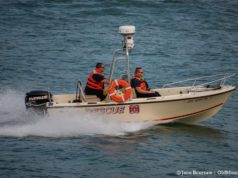 Peninsula Township Fire Department responds to call with rescue boat off Old Mission Point on the Old Mission Peninsula | Jane Boursaw Photo
