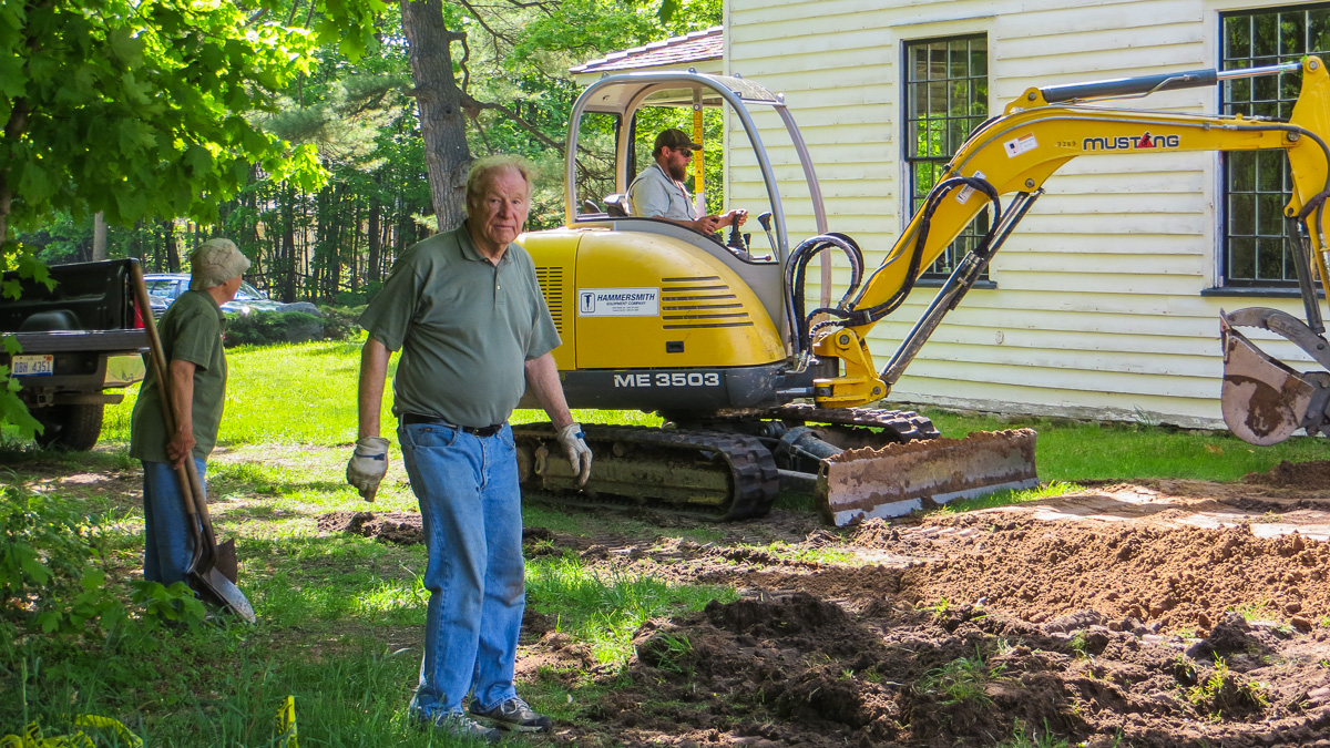 Bill Cole and Team work to restore the historic Dougherty House in Old Mission, Michigan   Anita Klein Photo