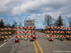 Bluff Road closed on the Old Mission Peninsula | Jane Boursaw Photo