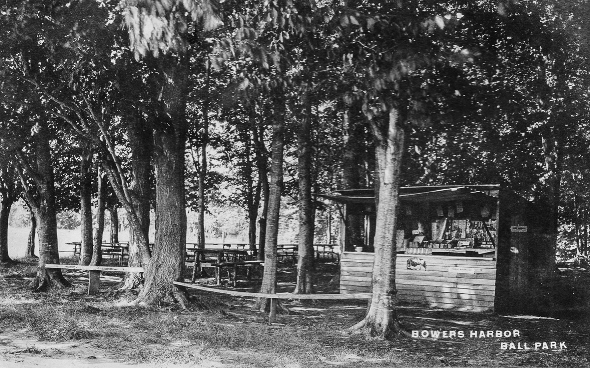 Bowers Harbor Park, circa 1910, where the Traverse City Resorters Baseball Team practiced | Don Harrison Photo; UpNorth Memories Postcards and Paper Collectibles