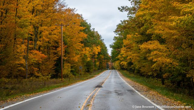 Center Road aka M37 near Mission Point Lighthouse on the Old Mission Peninsula | Jane Boursaw Photo